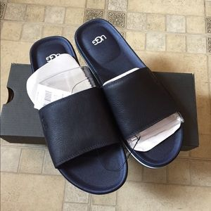 Ugg Men's Navy Blue Sandals